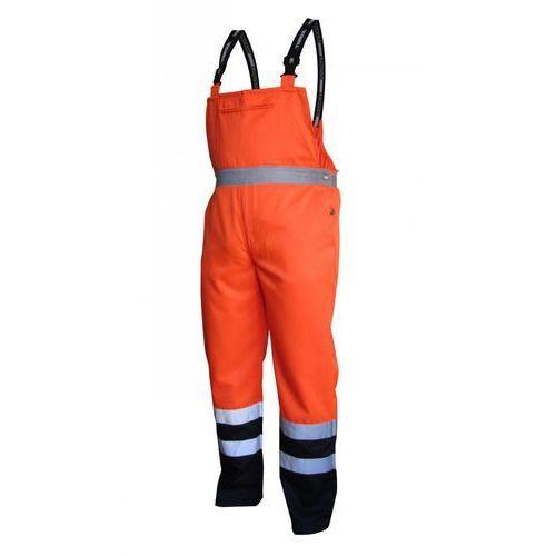 Spodnie i kombinezony ochronne, Spodnie na szelkach ostrzegawcze pomarańczowo-granatowe, rozmiar XXXL