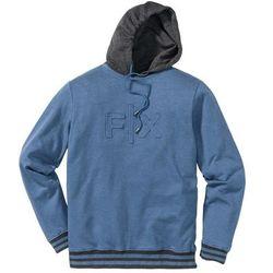 Bluza z kapturem Regular Fit bonprix niebieski dżins melanż