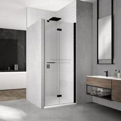 Sanswiss Solino F drzwi do wnęki składane 75 cm prawe czarne SOLF1D07500607