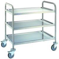Wózki na żywność, Wózek 3 półkowy ze stali nierdzewnej 1000x600x975 mm | EDENOX, CE-953