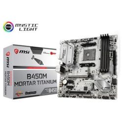 MSI Płyta główna B450M MORTAR TITANIUM A M4 4DDR4 DP/HDMI/M.2 UATX