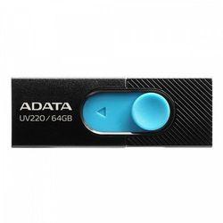 Adata UV220 64GB USB2.0 Czarno-niebieski