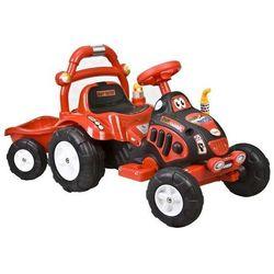 Elektryczny Traktorek + przyczepa ARTI O-KB-6038 czerwony - Czerwony