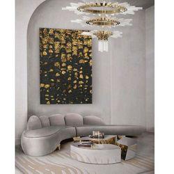 OSCURO - stylowy obraz do salonu czarno złoty elegancki glamour współczesny rabat 35%