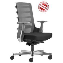 Fotel biurowy Unique SPINELLY M 998B - Czarny, wysuw siedziska + 21 kolorów siedziska.