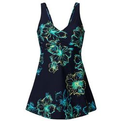 Sukienka kąpielowa wyszczuplająca bonprix ciemnoniebiesko-turkusowy