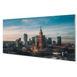 Obrazy akrylowe Warszawa Wieżowce panorama wschód słońca