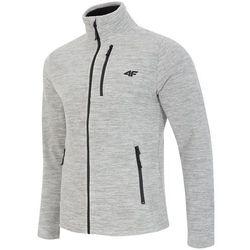 Bluza polarowa męska 4F PLM001 jasny szary melanż - Męskie \ jasny szary melanż 4f na m14 (-30%)