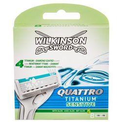 Wilkinson Sword Quattro Titanium Sensitive wkład do maszynki 8 szt dla mężczyzn