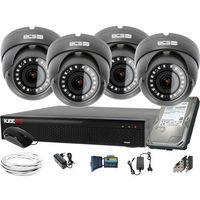Zestawy monitoringowe, 1920x1080 FullHD 4x BCS-B-DK22812 BCS Basic zestaw do monitoringu Dysk 1TB Akcesoria