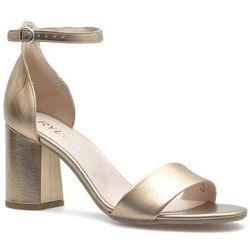 Sandały Ryłko 7NBD3_T3_S1F Złote lico