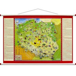 Mapa ścienna - Polska Młodego Odkrywcy