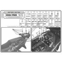 Stelaże motocyklowe, Stelaż pod kufer centralny do Honda VFR800 [98-01] - Givi 257FZ (zgodny z Kappa KZ257)