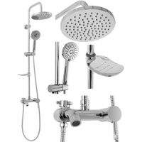Zestawy prysznicowe, Srebrny zestaw prysznicowy Luis Chrom Rea ✖️AUTORYZOWANY DYSTRYBUTOR✖️