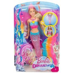 Barbie Dreamtopia Lalka Tęczowa syrenka DHC40 Świeci