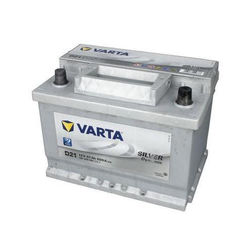 Akumulatory samochodowe, Akumulator VARTA D21 Silver Dynamic 61Ah 600A L-
