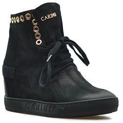 Sneakersy Carinii B4359-360 Czarne nubuk