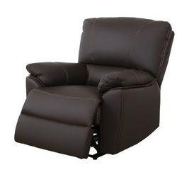 Skórzany fotel z regulowaną elektrycznie funkcją relaks MARCIS - Czekoladowy