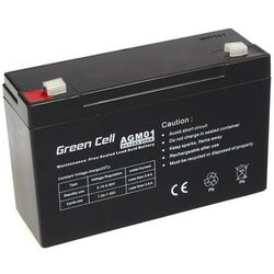 Akumulator AGM 6V 12Ah {151 × 50 × 100 mm} (GreenCell)