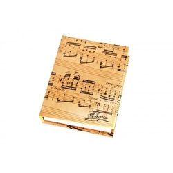 Notesik z kart. samoprzyl. z motywem nut Chopina
