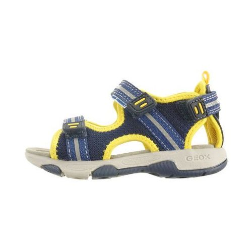 Sandałki dziecięce, GEOX B920FA SAND.MULTY 01415 C0657 navy/yellow, sandały dziecięce, rozmiary: 22-23