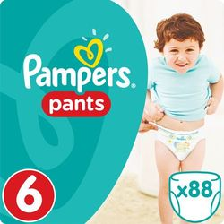 Pampers, Active Baby Pants Mega Box. Pieluchomajtki, rozmiar 6 Extra Large, 88szt - Pampers