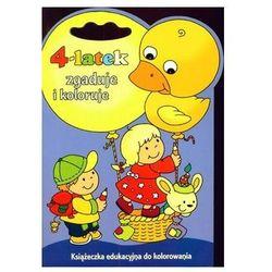 4-latek zgaduje i koloruje. Książeczka edukacyjna do kolorowania Joanna Myjak