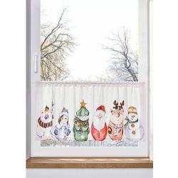 Zazdrostka z bożonarodzeniowym nadrukiem bonprix biało-kolorowy