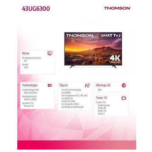 Telewizory LED, TV LED Thomson 43UG6300