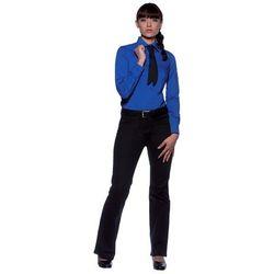 Bluzka damska z długim rękawem, rozmiar 38, niebieska | KARLOWSKY, Mia