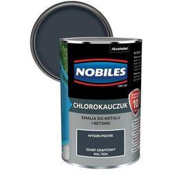 Emalia chlorokauczukowa Nobiles do metalu i betonu szara grafitowa 0,9 l