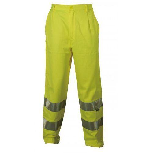 Spodnie i kombinezony ochronne, Spodnie robocze ostrzegawcze żółte, rozmiar M