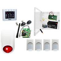 Sygnalizatory, Sklepowy system alarmowy Ropam OptimaGSM-PS + 4xBosch+ TPR-2W-O + Sygnalizator + 2xpilot