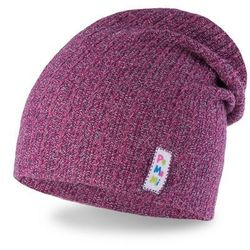 Fioletowa czapka wiosenna dla dziewczynki PaMaMi