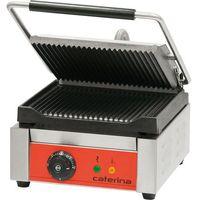Grille gastronomiczne, Kontakt grill pojedynczy ryflowany, 300x390x195 mm | CATERINA, 742011