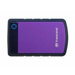 TRANSCEND Dysk StoreJet 2,5, 1000GB, USB 3.0TS1TSJ25H3P Wstrząsoodporny / Szybki Backup