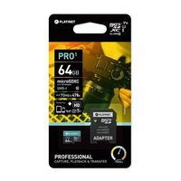Karty pamięci, Platinet microSDHC Class 10 64GB + adapter