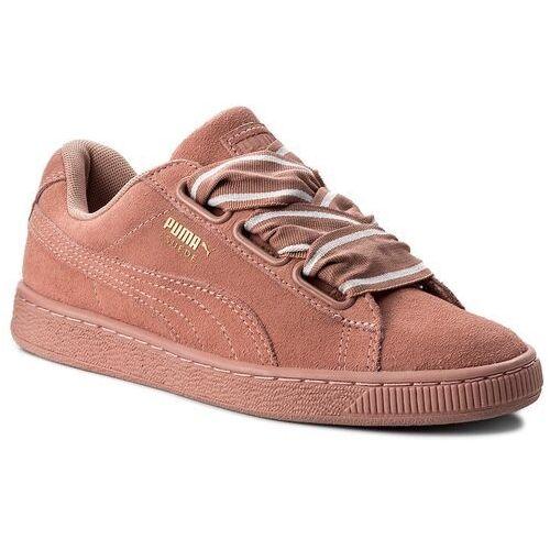 Półbuty damskie, Sneakersy PUMA - Suede Heart Satin II Wn's 364084 03 Cameo Brwon/Cameo Brown