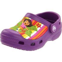 Crocs Kids Classic Dora Multistripe Dahlia Fioletowe klapki dla dzieci Dora poznaje świat 21-22 C4/5