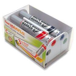 Zestaw do tablic suchościeralnych Pentel Maxiflo MWL5M 4 kolory + gąbka magnetyczna