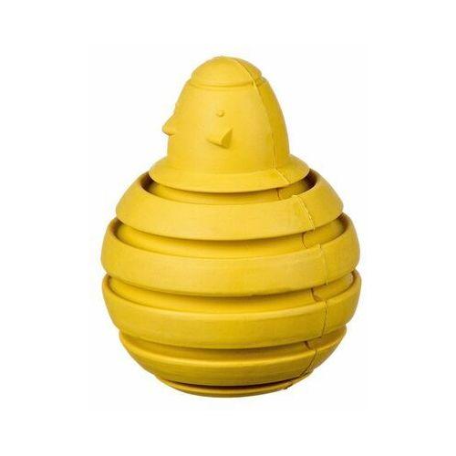 Pozostałe zabawki, Myszka bombka kauczukowa na przysmaki M - yellow