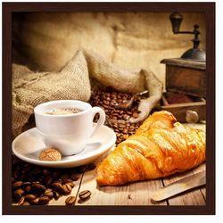 Obraz Rogalik kawa