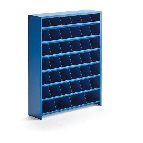 Pojemniki przemysłowe, Regał na śruby, 40 przegród, 980x800x220 mm, niebieski