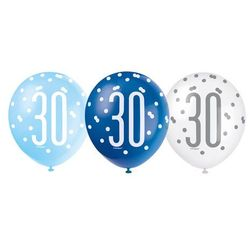 Balony lateksowe pastelowe 30 - 30 cm - 6 szt.