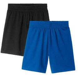Spodnie sportowe, szybko schnące ( 2 pary) bonprix czarny + lazurowy