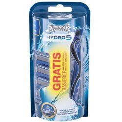 Wilkinson Sword Hydro 5 zestaw Maszynka do golenia z jednym ostrzem 1 szt + Zapasowe ostrze 4 szt dla mężczyzn