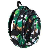 Tornistry i plecaki szkolne, Plecak 4-komorowy BP4 Zielone klocki 3D