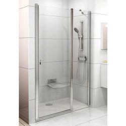Ravak Chrome drzwi prysznicowe dwuelementowe CSD2-110, wys. 195 cm, Polerowane aluminium+Transparent 0QVDCC00Z1