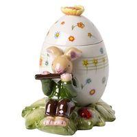 Ozdoby świąteczne, Villeroy & Boch - Bunny Family Pudełko jajko z zajączkiem flecistą