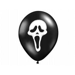 Balony na Halloween czarne Krzyk - 37 cm - 50 szt.